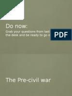 pre civil war powerpoint