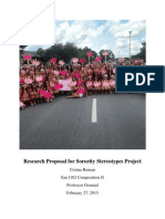 research proposal for sorority stereotypes project