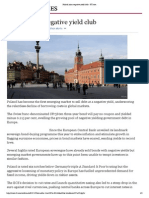 Poland Joins Negative Yield Club - FT