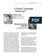 Lund & Svedsen (2001) What is Good Language Teaching