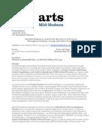 Arts Mid-Hudson Press Release