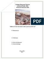 Impacto Ecologico de Los Plasticos