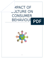 impact of culture on consumer behaviour