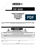 POD HD300 Quick Start Guide - English ( Rev C )
