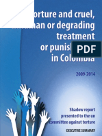 Torture and cruel, inhuman or degrading treatment or punishment in Colombia
