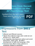 2011 to 2014 warren ap test impressions