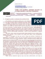 O Novo Código Civil Brasileiro bases romanistas