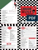 Liquor Lyles Menu April 2015