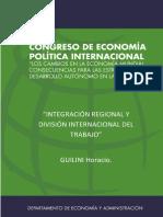 Integracion Regional y Division Internacional del Trabajo