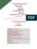 LAMPEA-Doc 2015 – numéro 14 / Jeudi 30 avril 2015