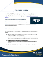 Fellowship Admission Criteria