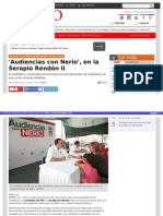 30-04-2015 'Audiencias con Nerio', en la Serapio Rendón II