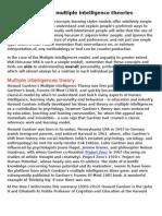 Howard Gardner Multiple Intelligence Theories