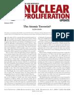 The Atomic Terrorist?, Cato Nuclear Proliferation Update