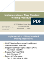 New Implementation of Navy Standard Welding Procedures Castner