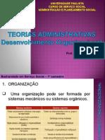 Teorias Administrativas - Desenvolvimento Organizacional