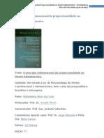 O princípio tridimensional da proporcionalidade no Direito Administrativo