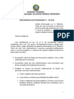 Requerimento de pedido de informação sobre o acordo entre Dilma e o Facebook