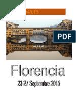 Programa de Viaje Florencia 2015