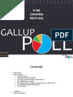 Gallup 106 Abril 2015