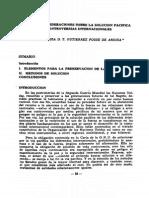 Algunas Consideraciones Sobre La Solucion Pacifica de Controversias Internacionales (1)