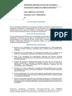 Programa de Estudio Procesal Civil y mercantil
