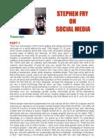 Stephen Fry on Social Media