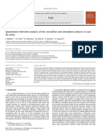 Quantitative Rietveld Analysis of the Crystalline and Amorphous Phases in Coal