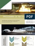 Programa de Necesidades centro de convenciones