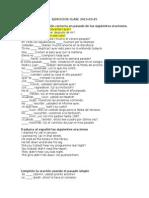 Ejercicios de conjugacion de verbos en pasado