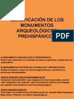 Clasificación de Los Monumentos Arqueológicos Prehispánicos