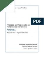 Proyecto de Prefactibilidad Planta de Producción de Peróxido de Hidrógeno