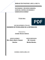 Tesina de Ingeniería - Tsu. Jonatan Alcocer Zamora