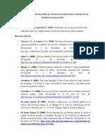 Bibliografía Sobre Reforma Judicial