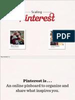 Scaling Pinterest