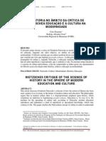 2-A Historia No Ambito Da Critica de Nietzsche a Educacao e a Cultura Na Modernidade - Celso Kraemer Rodrigo Abrantes Cesar