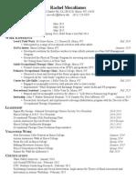 Senior Seminar Resume