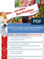 RDD Learning Academy - Best Practices