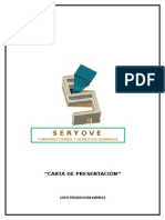 Carta de Presentación Seryover
