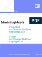 Estimation in Agile Projects