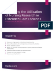 the utilization of nursing research in extended care