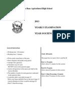 2013 Yearly Exam MK