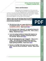 20 Page Rank 8+ Backlinks Part One