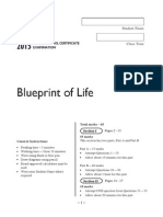 Blueprint of Life Exam