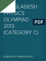 Bangladesh Physics Olympiad 2013