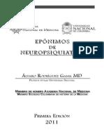 Eponimos de Neuropsiquiatria