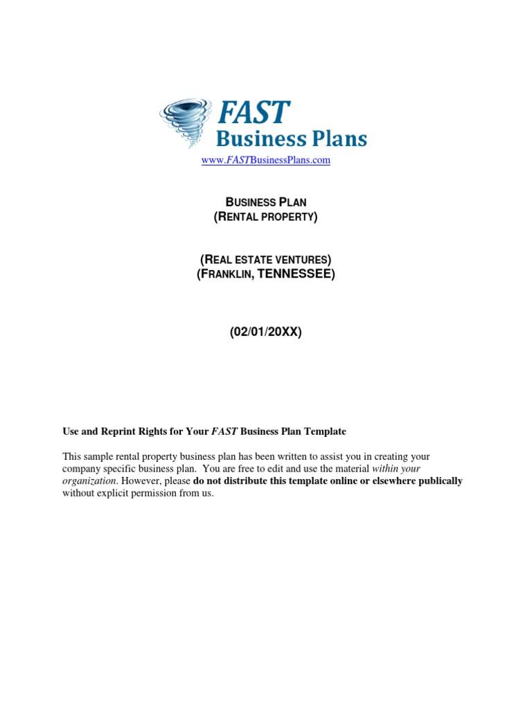 Rental Property Business Plan Pasoevolistco - Rental property business plan template