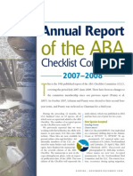 ABA Checklist Committee report, 2007-2008