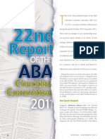 ABA Checklist Committee Report, 2011