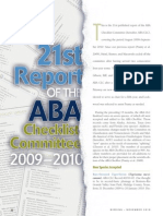 ABA Checklist Committee report 2009-2010